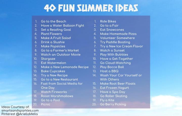 40 Fun Summer Ideas